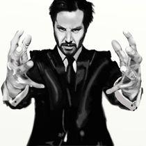 Keanu Reeves Digital Airbrush von Jeff Roffey