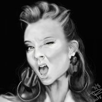 Natalie Dormer Digital Airbrush by Jeff Roffey