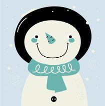 cutie smiling snowman von Jana Guothova