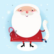 xmas cool santa white, blue by Jana Guothova