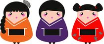 little geishas cute von Jana Guothova