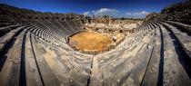 The ruins of ancient Roman amphitheatre in Side von Zoltan Duray
