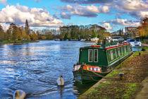 Narrowboat Moored At Reading Riverside von Ian Lewis