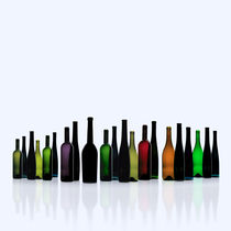 Flaschenpano_2_Quadrat von Edgar Emmels