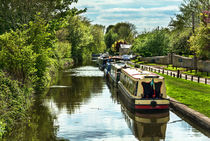 The Oxford Canal At Thrupp by Ian Lewis