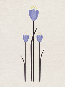 Abstract Bluebell by Sybille Sterk