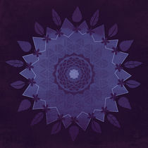 Flower mandala in purple by Sybille Sterk
