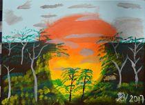 Sonnenaufgang im Wald by ben-painting-artist