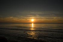 Sunset on the Beach Løkken, Nordjylland, Denmark  by Tobias Steinicke