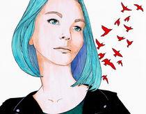 rote vögel by Lidija Kämpf
