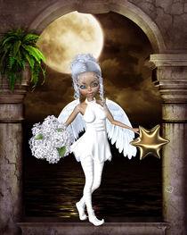 Engel mit Stern und Blumen by Conny Dambach