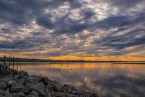 Wolken über dem Bodensee bei Moos - Halbinsel Höri by Christine Horn