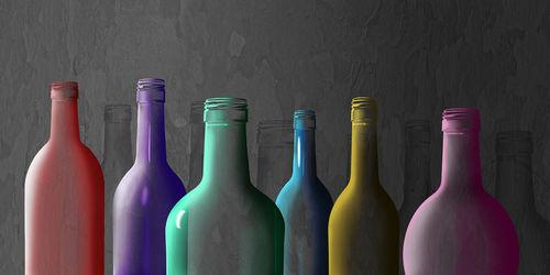 Bunte-glasflaschen