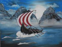 Wikingerschiff von Barbara Kaiser