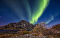 Lady Aurora dances above Mt. Store Nappstind in Lofoten von Stein Liland