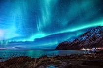 Northern lights activity at Vareid in Flakstad island von Stein Liland