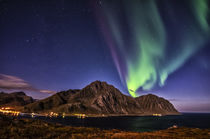Aurora Borealis above Mt. Store Nappstint, Lofoten islands by Stein Liland