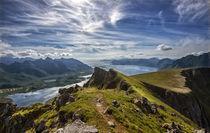 View from Mt Kvasstinden, Andoya, Lofoten, Nordland, Norway by Stein Liland