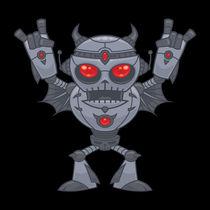 Metalhead - Heavy Metal Robot Devil by John Schwegel