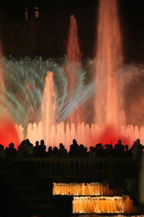 The magic fountain of Montjuïc's, Barcelona Spain von MARINA MASLIA