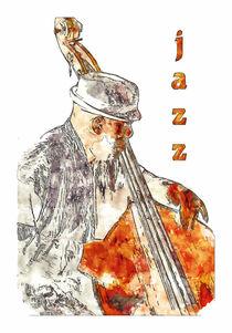 Jazz Bassist von cinema4design
