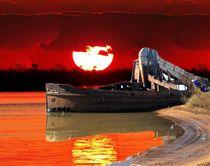 Barco al atardecer von Ricardo De Luca