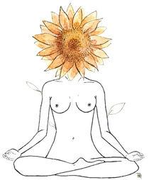 sunflower yoga by Pamella Ramos