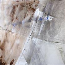 Abstrakte Komposition in weiß und grau von Annette Schmucker