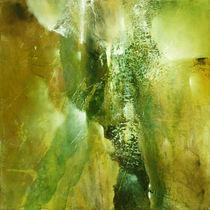 Abstrakte Komposition in grün von Annette Schmucker