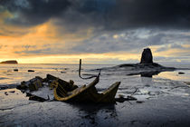 Black Nab and the wreck of the Admiral Von Tromp at sunset. Saltwick Bay, England (1) von chris-drabble