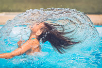 The hair wave water summer splash von Silvia Eder