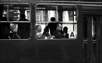 People in a bus, Belgrade Serbia von Daria Mladenovic