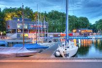 Neuer Bootshafen am Aasee in Münster von Münster Foto