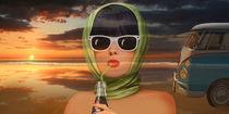 Ein Hauch von Sommer aus den 60er Jahren (Collage) von Monika Juengling