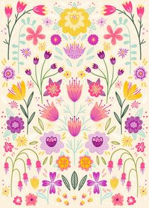 Bright Floral Symmetry by Nic Squirrell