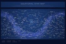 Equatorial star chart (dark) von summit-photos