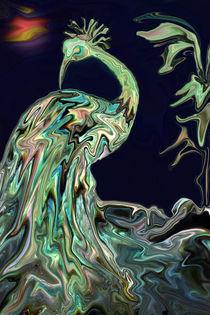 Schlafender Vogel, Digital Art, Sleeping Bird by Dagmar Laimgruber