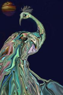 Perlmutt-Vogel, digitale Malerei, Nacreous Bird by Dagmar Laimgruber
