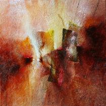 Abstrakte Komposition mit magenta von Annette Schmucker