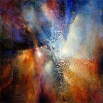 Abstrakte Komposition in braun und blau by Annette Schmucker
