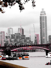 London Vauxhall Bridge von Caro Rhombus van Ruit