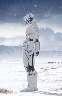 Winter Robot by Luca Oleastri