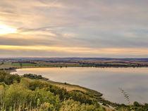 Sonnenuntergang Stausee Kelbra Talsperre - sunset lake Kelbra Talsperre von salogwynpictureart