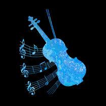 Blue Violin I von Nina-Christine Schwarz