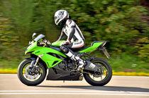 Kawasaki Ninja Motorrad on Speed by ivica-troskot