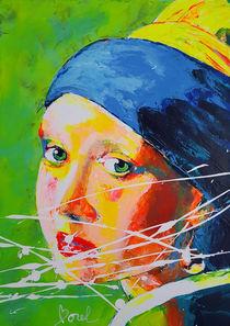 La jeune fille à la perle Hommage à Veermer by MARIE-ARMELLE BOREL