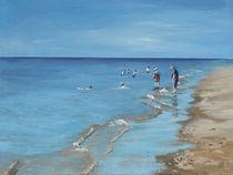 Leute am Strand von Britta Kröger