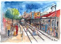 Jerusalem Jaffa Street by Hartmut Buse