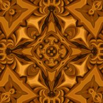 Silk Café-Cuivre Mandala by Richard H. Jones