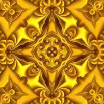 Silk Gold Fondue Mandala by Richard H. Jones